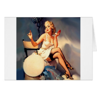 She's a Starlet Pin Up Girl Greeting Card