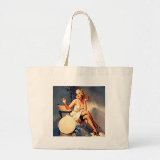 She's a Starlet Pin Up Girl Jumbo Tote Bag