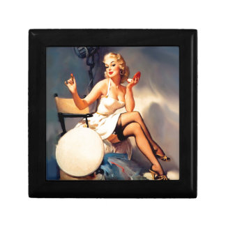 She's a Starlet Pin Up Girl Small Square Gift Box
