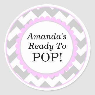 She's Ready to Pop, Chevron Print Baby Shower