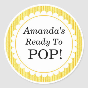 Ready To Pop Stickers Labels Zazzle Uk