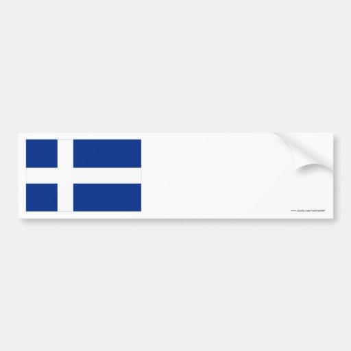 Shetland Flag Bumper Stickers