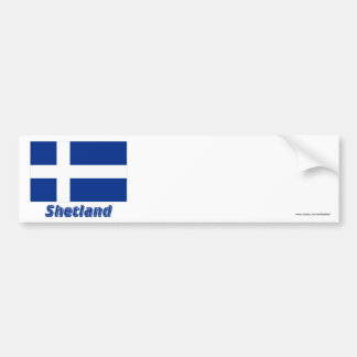 Shetland Flag with Name Bumper Sticker
