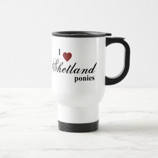 Shetland ponies mugs
