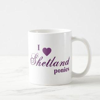 Shetland ponies coffee mug