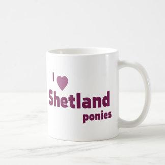 Shetland ponies coffee mugs