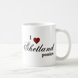 Shetland ponies mug