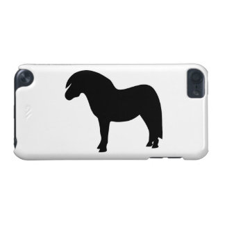 Shetland pony black silhouette ipod touch 5G case, iPod Touch 5G Covers