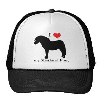 Shetland Pony, I love heart, cap, hat, gift idea