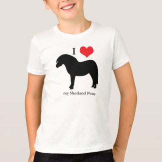 Shetland Pony I love heart kids, childrens t-shirt