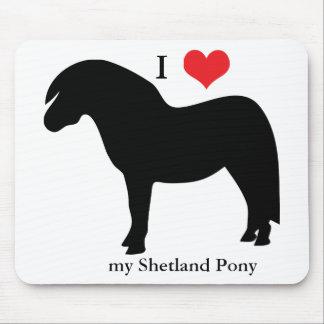 Shetland pony I love heart mousepad gift