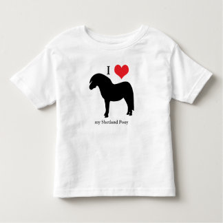 Shetland Pony I love heart toddlers, kids t-shirt