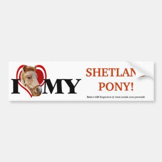 Shetland Pony In Red Heart-Bumper Sticker Bumper Sticker