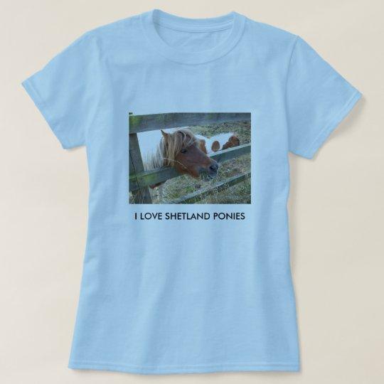 Shetland Pony Ladies Baby Doll T-Shirt