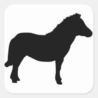 Shetland Pony. Square Sticker