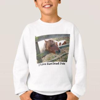 Shetland Pony T-Shirt, Long Sleeve, Grey Sweatshirt