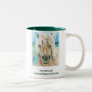 Shetland Pony Two-Tone Coffee Mug