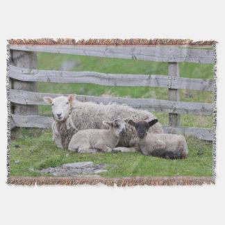 Shetland Sheep 3 Throw Blanket