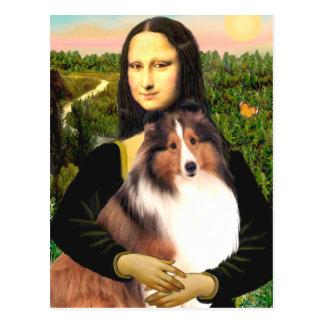 Shetland Sheepdog 7b - Mona Lisa Post Card