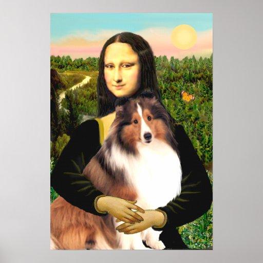 Shetland Sheepdog 7b - Mona Lisa Poster