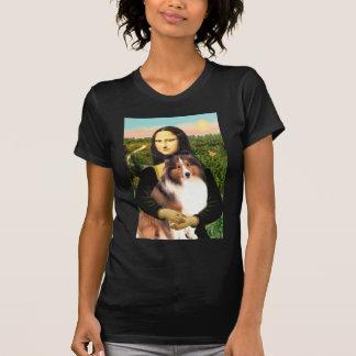 Shetland Sheepdog 7b - Mona Lisa T-Shirt