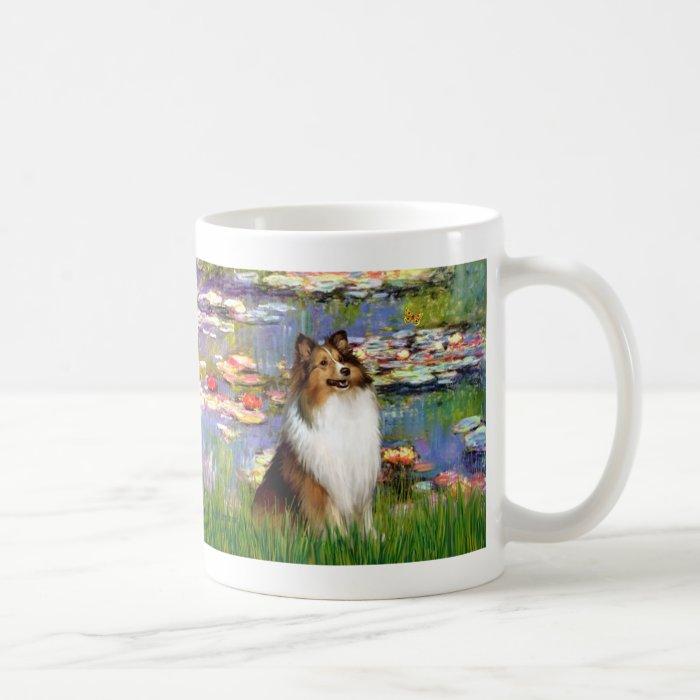 Shetland Sheepdog (Bz) - Lilies 2 Basic White Mug