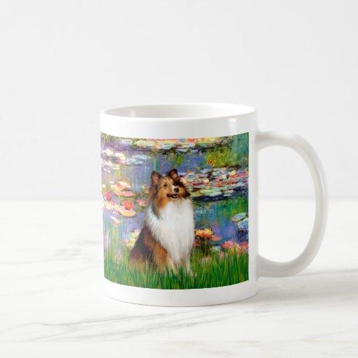 Shetland Sheepdog (Bz) - Lilies 2 Classic White Coffee Mug