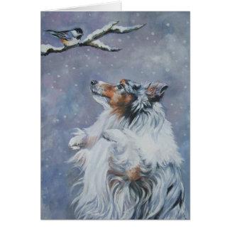 Shetland Sheepdog Christmas Card Sheltie