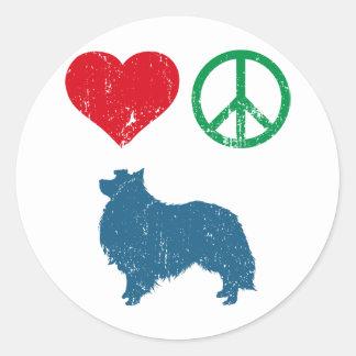 Shetland Sheepdog Classic Round Sticker