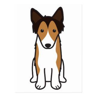 Shetland Sheepdog Dog Cartoon Postcard