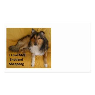 Shetland_Sheepdog love w pic png Business Card Templates
