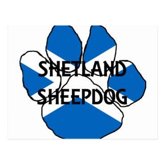 shetland sheepdog name Scotland flag paw.png Postcard