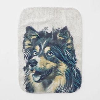 Shetland Sheepdog Painting Burp Cloth