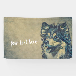 Shetland Sheepdog Painting Custom Banner