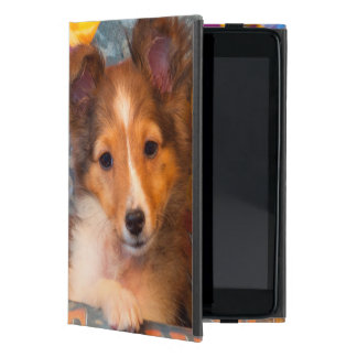 Shetland Sheepdog puppy in a hat box Cover For iPad Mini