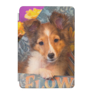 Shetland Sheepdog puppy in a hat box iPad Mini Cover
