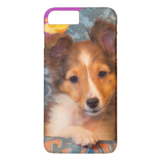 Shetland Sheepdog puppy in a hat box iPhone 8 Plus/7 Plus Case