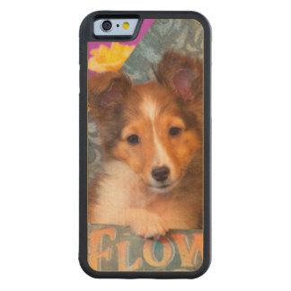 Shetland Sheepdog puppy in a hat box Maple iPhone 6 Bumper Case