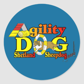 Shetland Sheepdog Sheltie Agility Classic Round Sticker