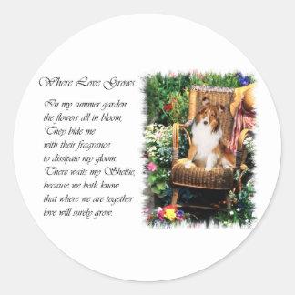 Shetland Sheepdog Sheltie Art Gifts Classic Round Sticker