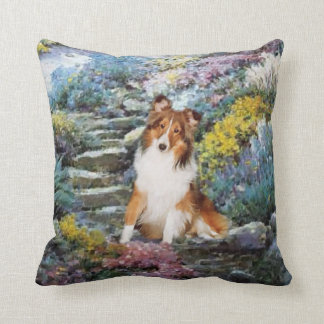 Shetland Sheepdog Sheltie Art Gifts Cushion