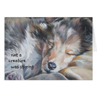Shetland Sheepdog Sheltie Christmas Card