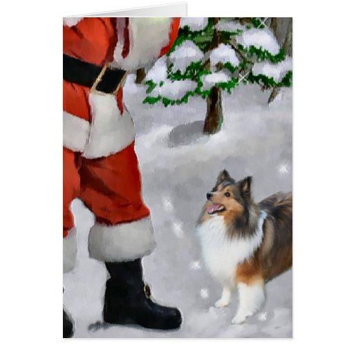 Shetland Sheepdog Sheltie Christmas Gifts Greeting Card