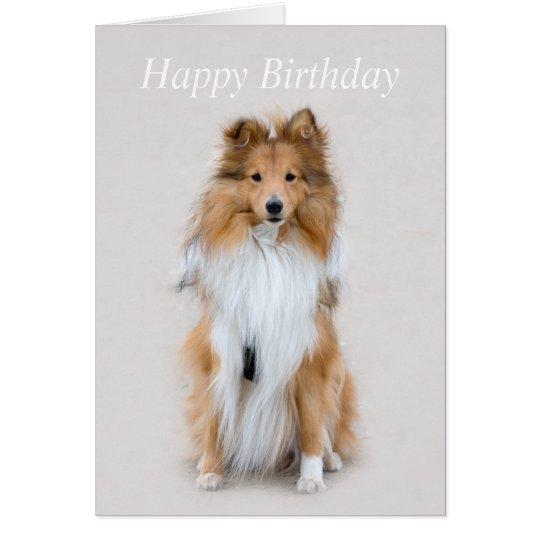 Shetland Sheepdog sheltie dog custom birthday card