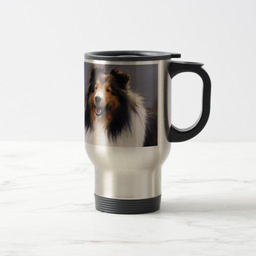 Shetland Sheepdog Sheltie Gifts Stainless Steel Travel Mug