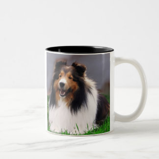 Shetland Sheepdog Sheltie Gifts Two-Tone Coffee Mug