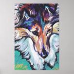 Shetland Sheepdog Sheltie Pop Art Poster Print