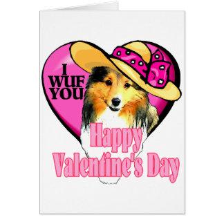 Shetland Sheepdog Sheltie Valentines Cards