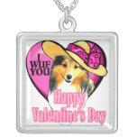 Shetland Sheepdog Sheltie Valentines Day Custom Necklace