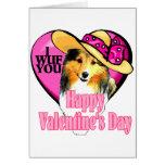 Shetland Sheepdog Sheltie Valentines Greeting Card